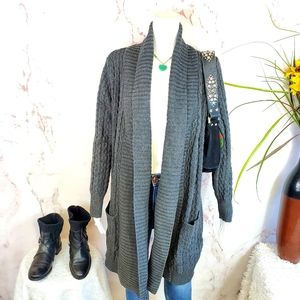 Nordstrom Leo & Nicole soft cable knit cardigan